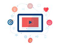 Social media video illustration