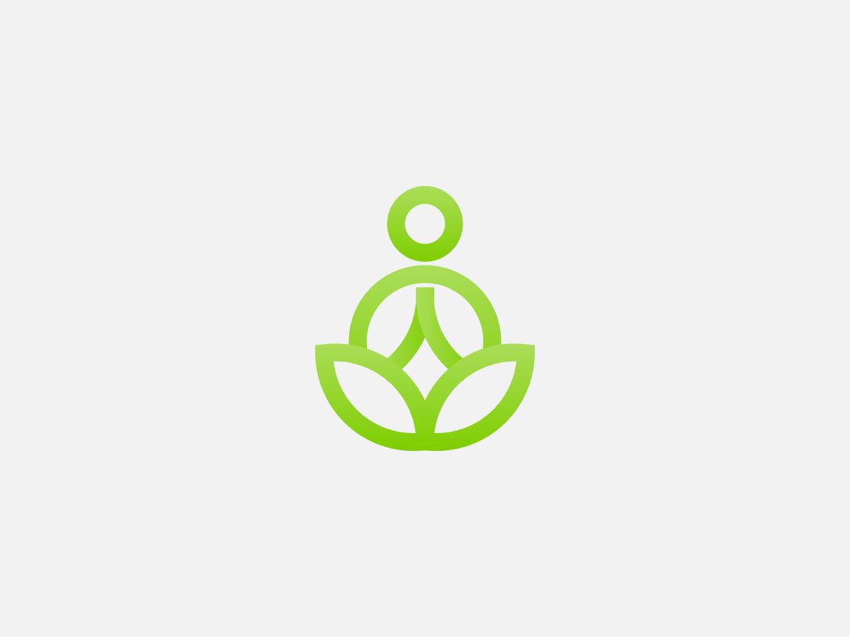 Yoga green abstract logo design creative design logo yoga