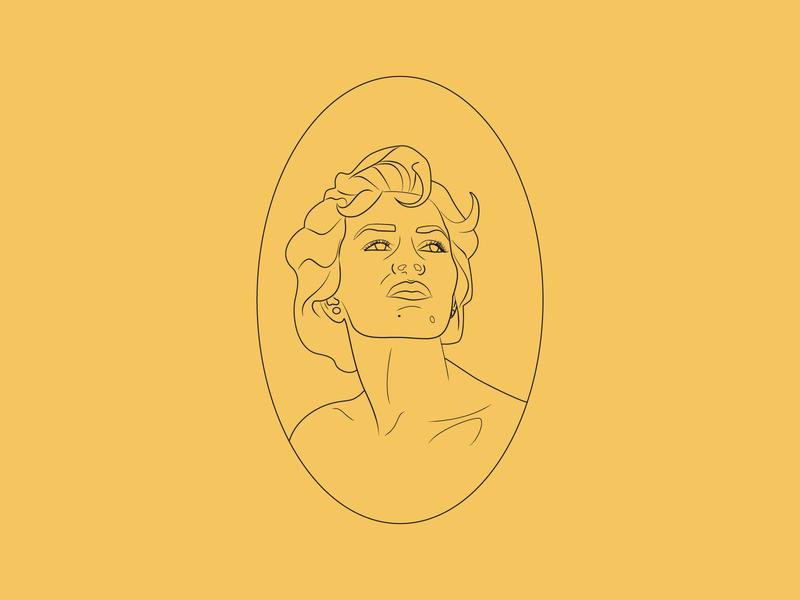 Doppel label beer yellow old workinprogress vintage illustration
