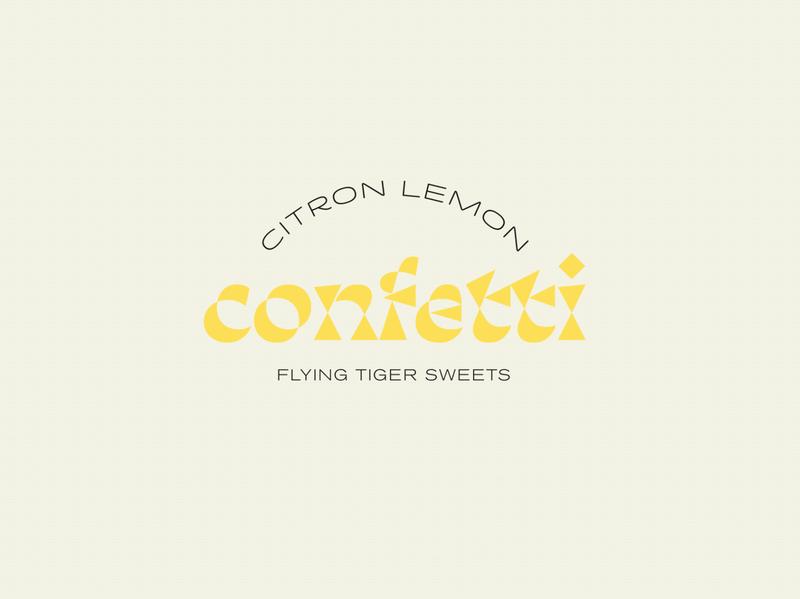 Confetti Identity type typography branding texture logo design