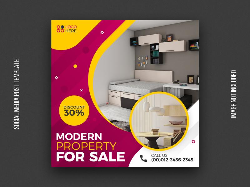 Real estate sale social media post template leaflet post web business flyer psd real estate instagram agency abstract brochure flyer design business tempalte banner