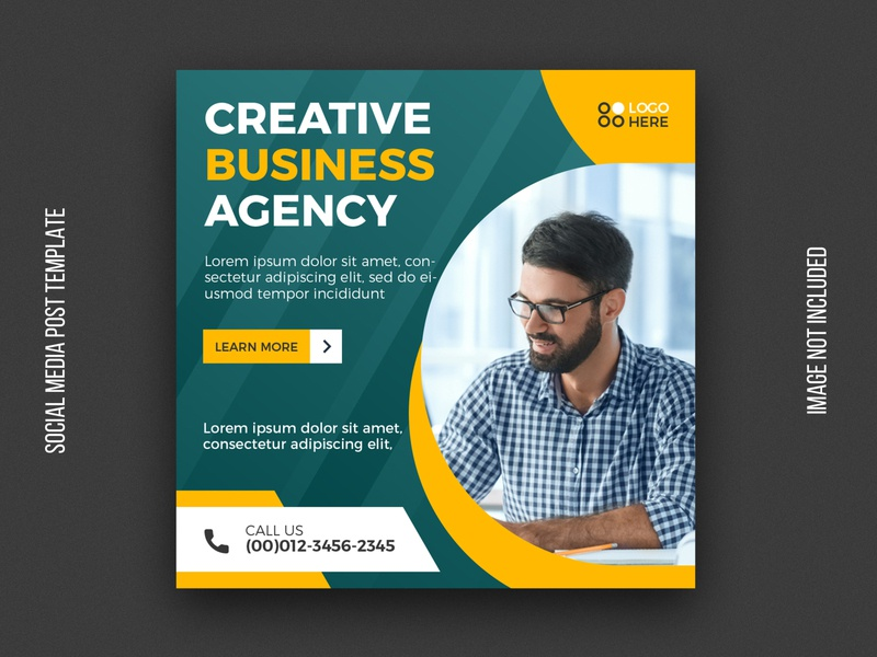 Digital agency social media post template instagram post web banner web facebook cover facebook psd corporate cover abstract agency design flyer business tempalte banner