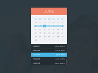Calendar + Missed Events