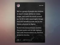 Micro-blog article concept