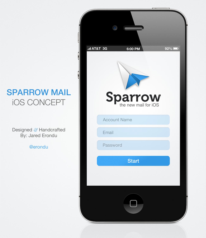 Forrst sparrow login concept