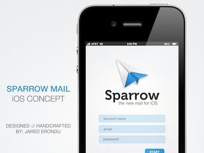 Forrst sparrow login concept copy
