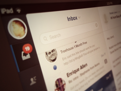 Evomail Top Section evo evomail email mail ipad ios app