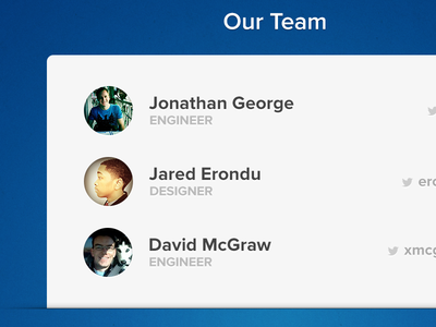 """Evomail """"Our Team"""" slide email mail ipad ios app onboarding"""