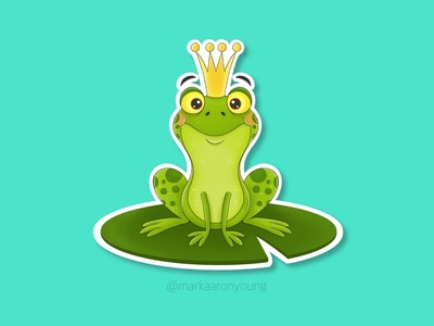The Frog Prince Sticker