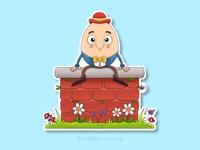 Humpty Dumpty Sticker