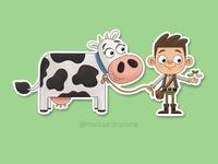 Jack and the beanstalk sticker
