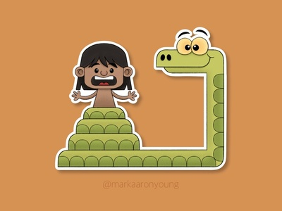 Kaa the Snake Sticker