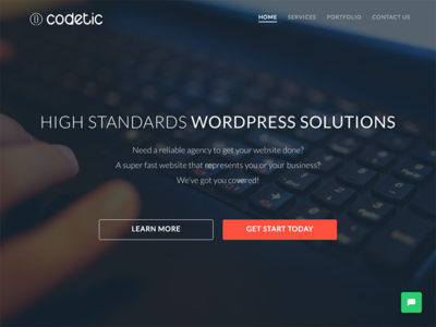 Codetic Website Redesign cornerstone x theme rebranding homepage codetic