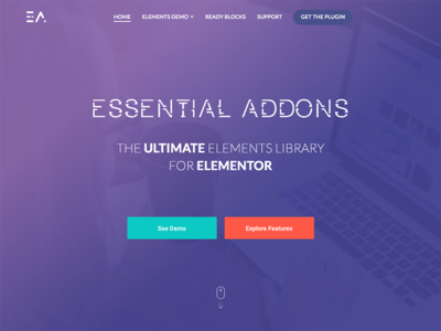 Essential Addons Elementor LP web elementor wordpress design ui landing
