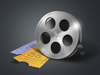 Retro film reel