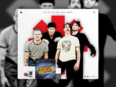 Prototipo Web Red Hot Chili Peppers