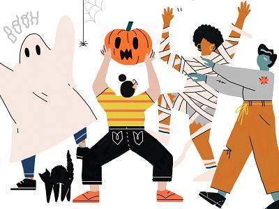 Halloween Party! clothes halloween bash party event spider party poster poster party hat halloween design halloween event zombie cat photoshop character design illustration pumpkin walking dead phantom costume halloween party