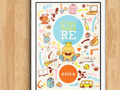 C'era una volta un re (2010) splashscreen mobile color colorfull character illustration ux ui interface ios iphone app