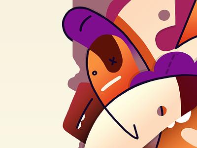 Drowsiness (details) monster littleworld handmade character illustration