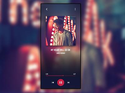 Day 009 - Music Player - Daily UI Design Challenge musicplayer mobile challenge ux uidesign