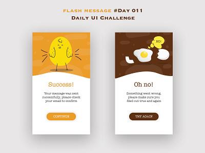 Day 011 - Flash Message - Daily UI Design Challenge flashmessage challenge ux uidesign