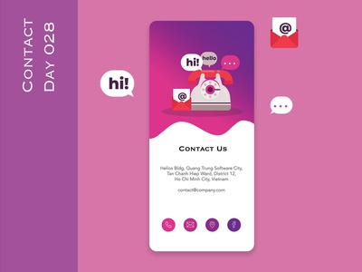 Day 028 - Contact - Daily UI Design Challenge