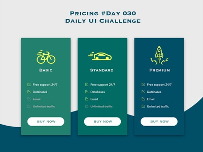 Day 030 - Pricing - Daily UI Design Challenge