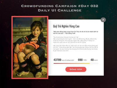 Day 032 -Crowdfunding Campaign - Daily UI Design