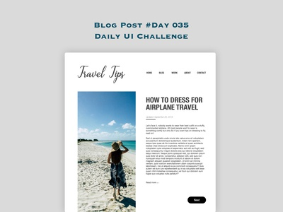 Day 035 - Blog Post - Daily UI Design Challenge