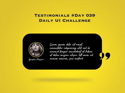 Day 039 - Testimonials - Daily UI Design Challenge