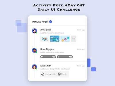Day 047 - Activity Feed - Daily UI Design Challenge