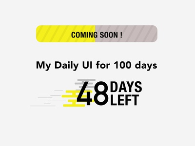 Day 048 - Coming Soon - Daily UI Design Challenge