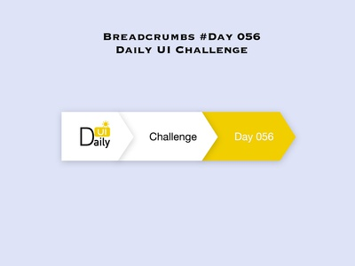 Day 056 - Breadcrumbs - Daily UI Design Challenge