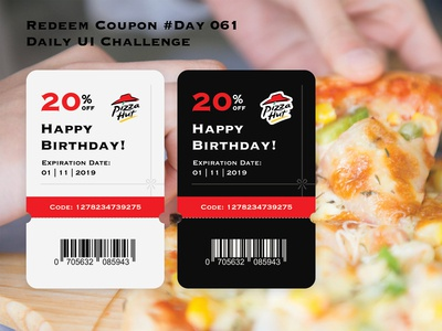 Day 061 - Redeem Coupon - Daily UI Design Challenge