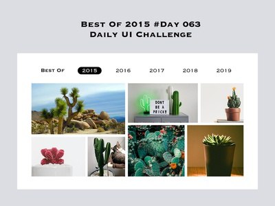 Day 063 - Best of 2015 - Daily UI Design Challenge