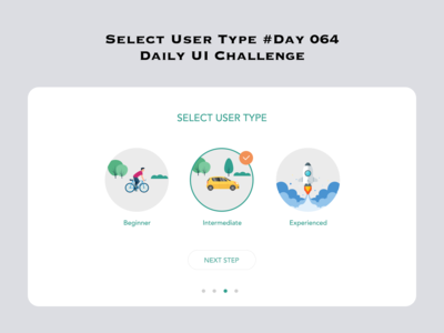 Day 064 - Select User Type - Daily UI Design Challenge