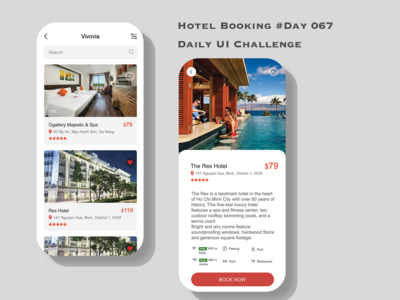 Day 067 - Hotel Booking - Daily UI Design Challenge