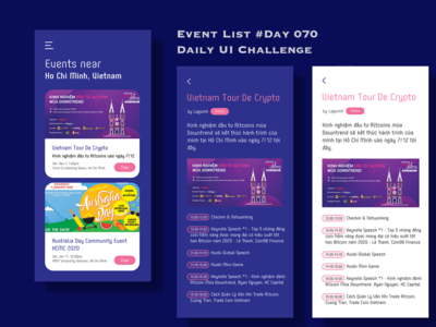 Day 070 - Event List - Daily UI Design Challenge