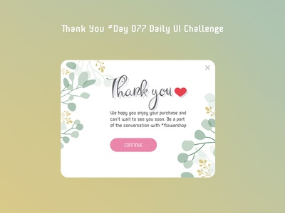 Day 077 - Thank You - Daily UI challenge