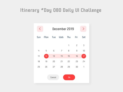 Day 080 - Date Picker - Daily UI challenge