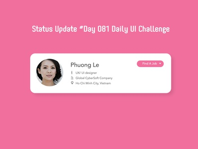 Day 081 - Status Update - Daily UI challenge