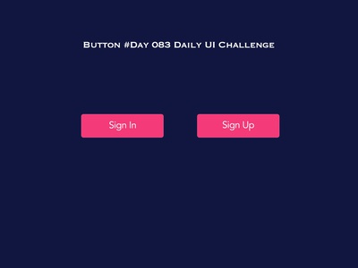 Day 083 - Button - Daily UI challenge