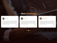 Daily UI - Day 101 - Client Testimonials