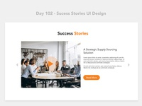 Day 102 - Sucess Stories UI Design