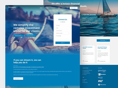 Octagon Financial Website website design ux ui