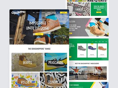 Grasshoppers Website website design ui ux
