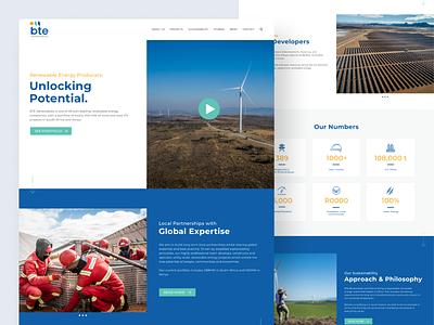 BTE Renewables Website website design ui ux