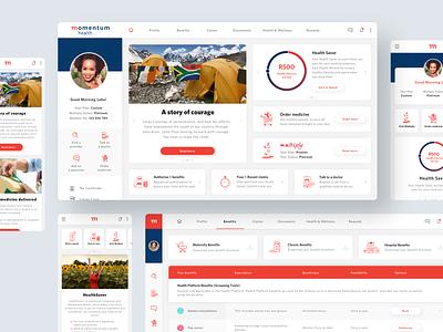 Momentum Health Client Dashboard design app ux ui