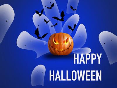 Happy Halloween poster print pumpkin halloween illustration art illustration
