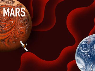Mars illustrations illustration illustrator cosmos cosmic mars digitalart procreateapp